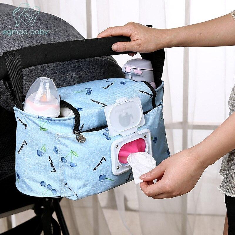 Baby Kinderwagen Taschen Große Kapazität Mummy Nappy Tasche Multifunktions Reise Windel Tasche Mutterschaft Pflege Hängende Lagerung Tasche