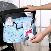 Baby Stroller Bags Large Capacity Mummy Nappy Bag Multifunction Travel Diaper Bag Maternity Nursing Hanging Storage Bag multifunction plastic patchwork travel mummy bag green orange storage box non slip elevated baby chair can be stored