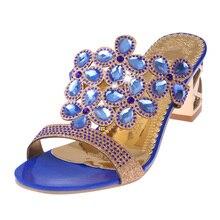 YeddaMavis Slippers Women Sandals Rhinestones Womens Shoes 2019 Summer Fashion Flip Flops Woman Size 35 -41