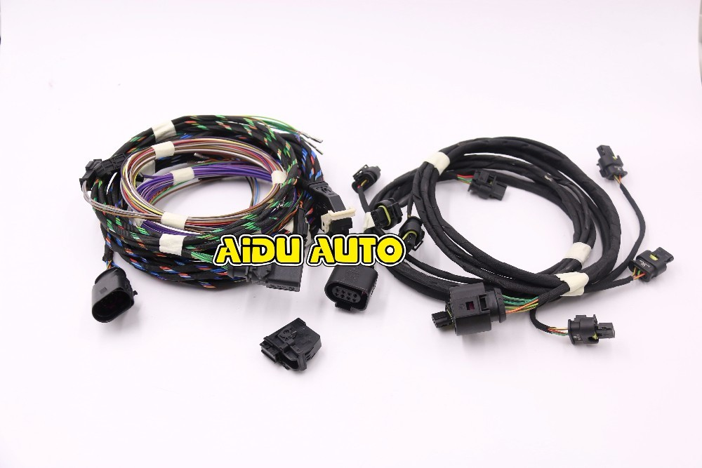 OPS Parking Front and Rear 8K PDC OPS Install Harness cable wire For VW NEW MQB Skoda Octavia 2 in Cables Adapters Sockets from Automobiles Motorcycles