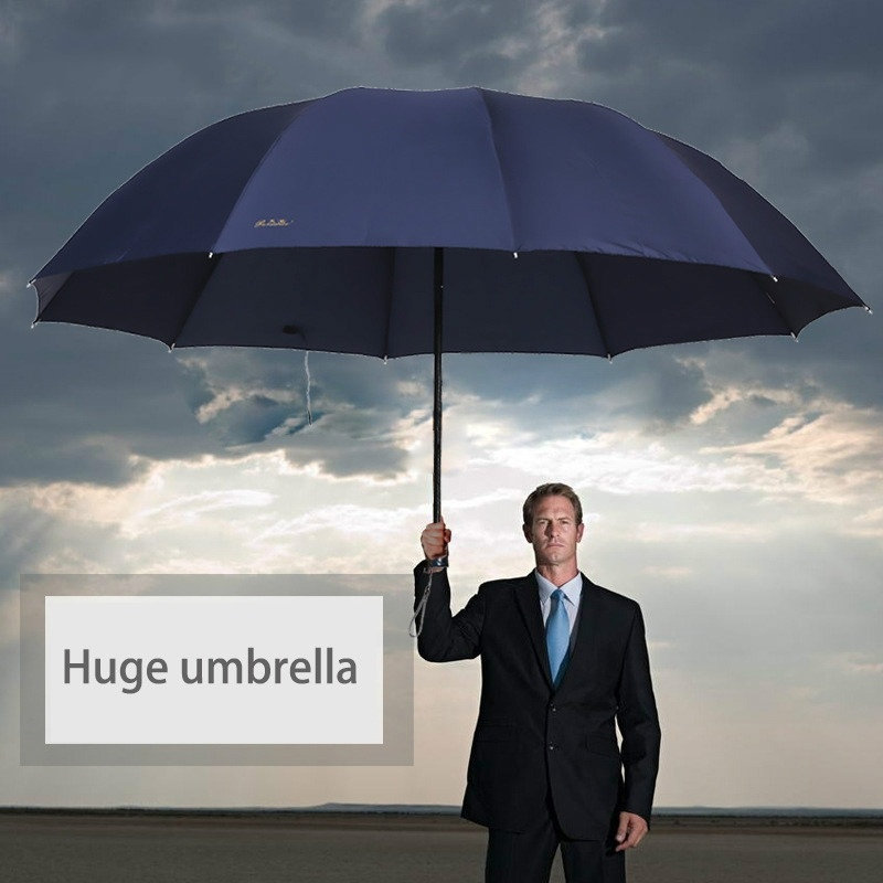 130CM Large Men <font><b>Umbrella</b></font> <font><b>Golf</b></font> Raingear Super <font><b>Big</b></font> Rain <font><b>Umbrellas</b></font> Male Women Sun <font><b>Umbrella</b></font> Outdoor 3 Folding Parapluie Travel Size image