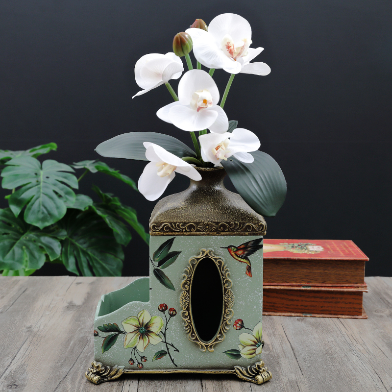 European creative tissue box coffee table home decoration remote control storage box multi function tray in Storage Boxes Bins from Home Garden