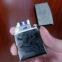 Usb Rechargeable Metal Usa Classic Cigarette Lighter WITH LED LIGHT CAR SHAPE FOUR PIECES FREE SHIPPING