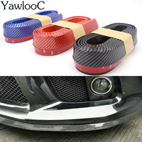 Car Styling 250cm 5 5cm PVC Universal Car Front Rubber Bumper Lip Splitter Skirt Protector Strap