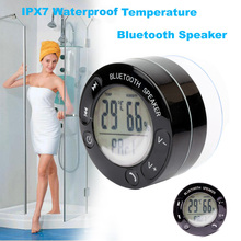Ubit Portable Thermometer Shower Waterproof Wireless Bluetooth Speaker Car Handsfree Receive Call Music Suction Phone Mic