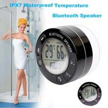 Ubit портативный термометр Душ водонепроницаемый беспроводной bluetooth-динамик Автомобильная гарнитура получите вызов музыка всасывания телефон Mic