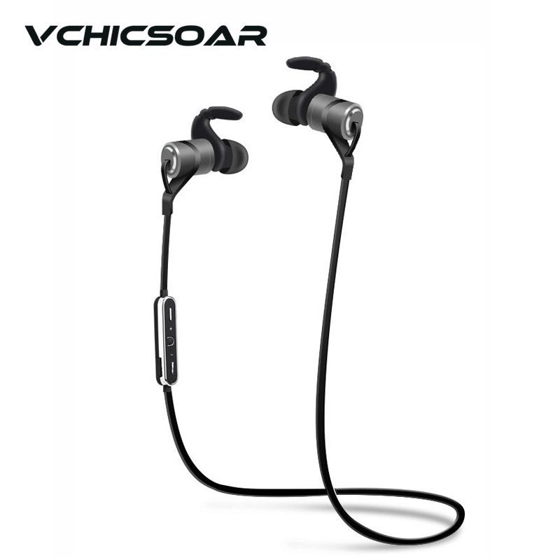 VCHICSOAR Sports Wireless Bluetooth Earphone Anti-Sweat Metal Headset bass Stereo Earbuds Earphones with Mic for iPhone xiaomi
