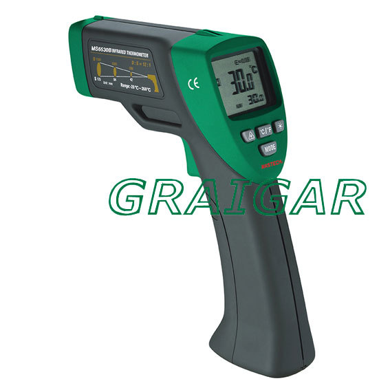 Mastech MS6530B Thermometer Non Contact Infrared Thermometers Free Shipping mastech ms6520c non contact infrared thermometers surface body