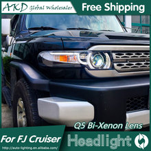 AKD Car Styling for Toyota Fj Cruiser Headlights FJ150 Land Cruiser LED Headlight LED DRL Bi Xenon Lens High Low Beam Parking