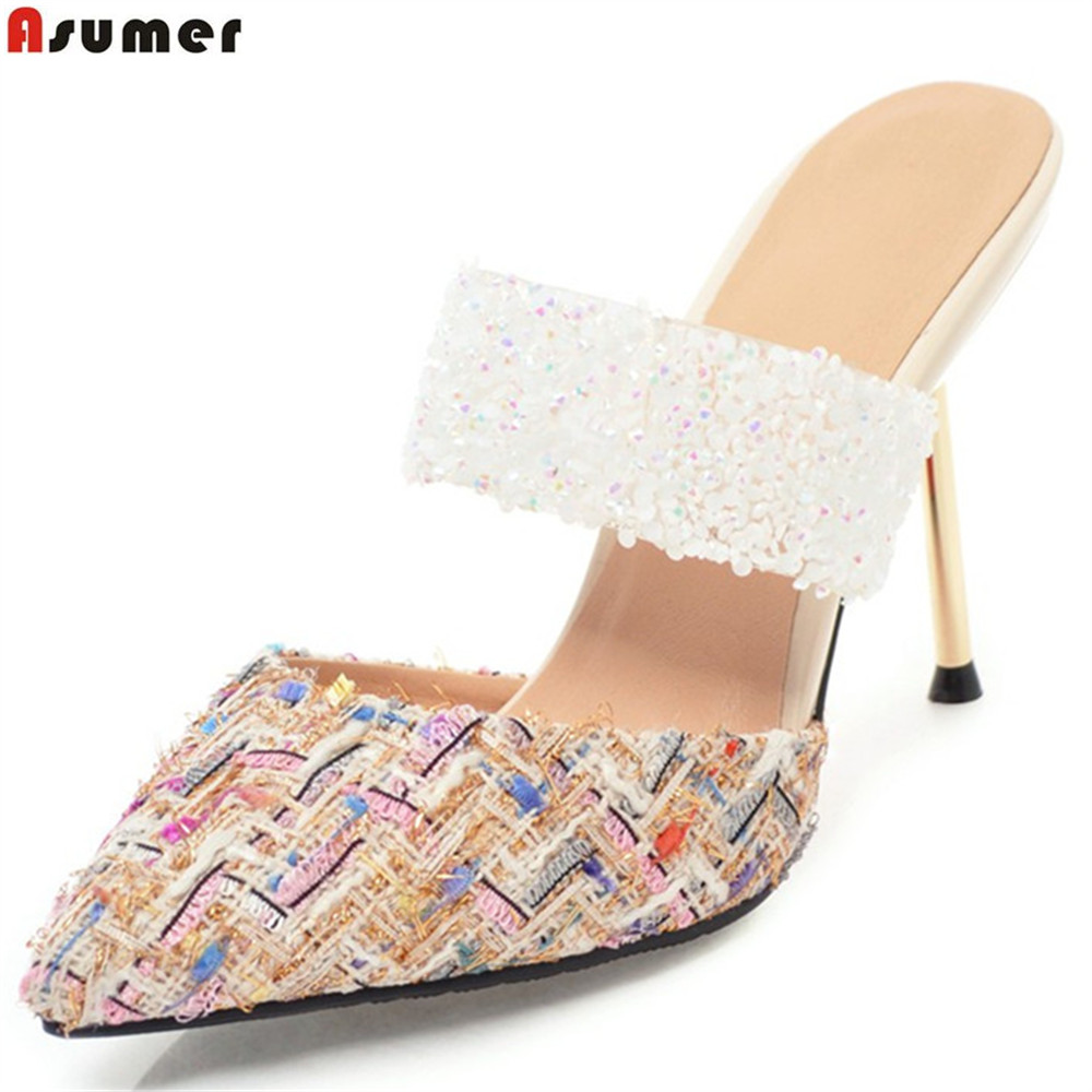 ASUMER big size 33-43 fashion summer ladies shoes pointed toe elegant wedding shoes woman pumps women shoes high heels shoesASUMER big size 33-43 fashion summer ladies shoes pointed toe elegant wedding shoes woman pumps women shoes high heels shoes