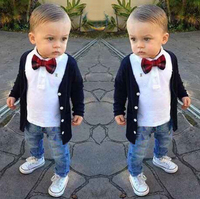 ST157 Baby Boy Clothes Fashion Handsome Boy Set Baby Hot Selling Boy Long Sleeve Shirt Outerwear