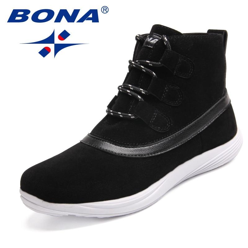 BONA nouveauté classiques Style femmes chaussures de marche à lacets femmes chaussures de Sport en plein air Jogging baskets lumière rapide livraison gratuite