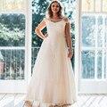 Nova Chegada de Moda Rendas Vestido de Noiva 2017 Romantic Robe De Mariage vestido de Noiva Sheer Backless Vestidos de Noiva Plus Size