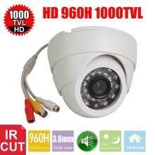 Vanxse видеонаблюдения 1/3 CMOS 1000TVL 24leds IR-CUT D/N Крытый Купол аудио безопасности Камера микрофон Камеры скрытого видеонаблюдения