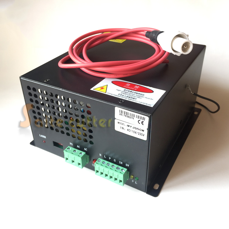 50W PSU CO2 tube Laser Power Supply for CO2 Laser Engraving Cutting Machine MYJG-50W 110V/220V 50w co2 laser power supply for co2 laser engraving cutting machine myjg 50w