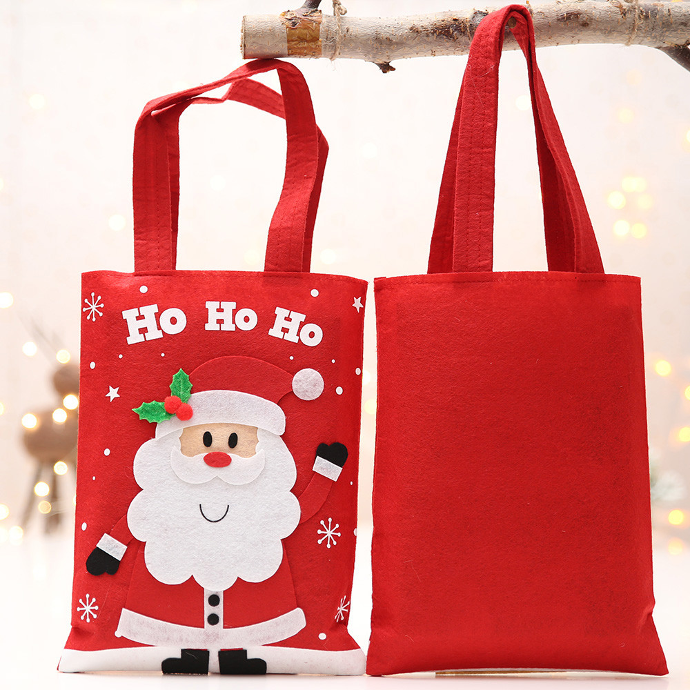 Happy New Year 2019 Year Merry Christmas Gift Christmas Decorations Xmas Snowman Apple Bag ...