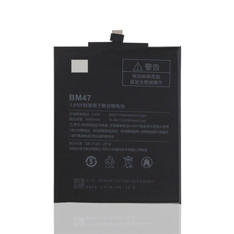 Bateria De Backup Original Para Xiaomi Redmi 3 BM47 Inteligente Xiaomi Redmi 3 S Do Telefone Móvel + + Número de Rastreamento + em Estoque
