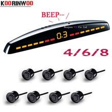 Koorinwoo Parktronics Car parking sensors 8/6/4 sensors Backup radar detector Car parking sensors LED Monitor System Automobiles