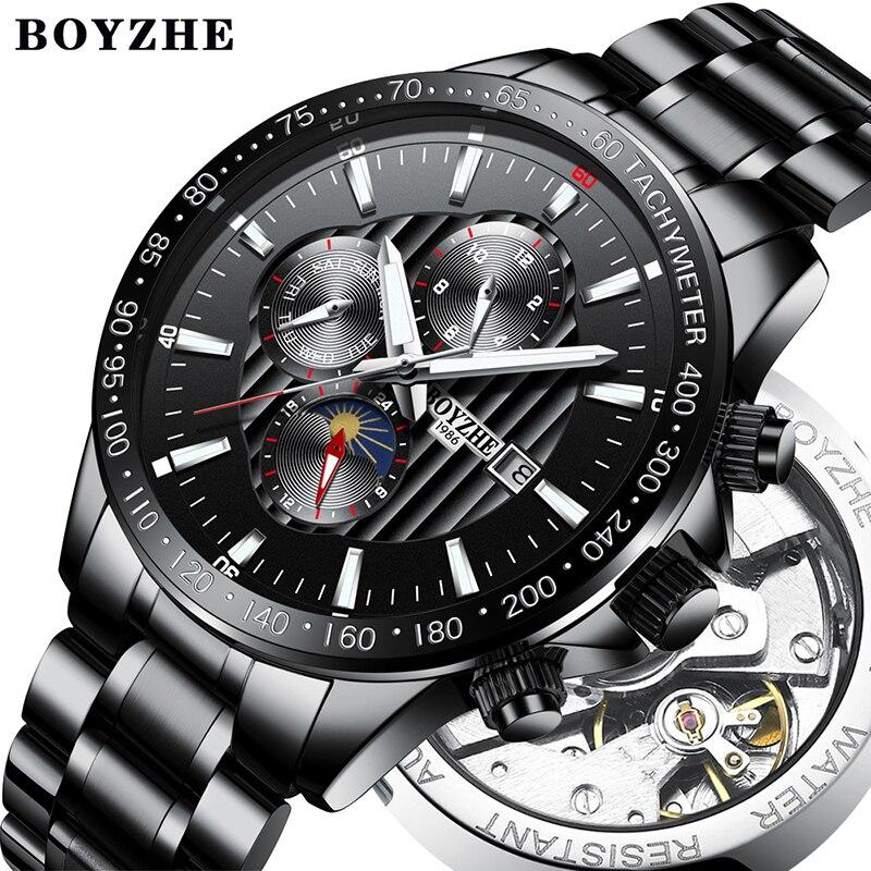 Мужские часы, Роскошные мужские часы с автоподзаводом, водонепроницаемые спортивные часы, мужские часы