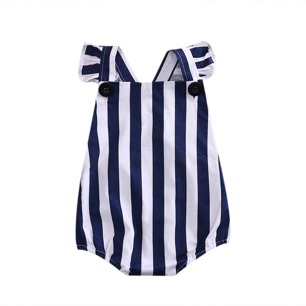 Cute Newborn Infant Baby Girls Striped Romper Jumsuit One Piece Outfit Set Cotton Clothes 0-24 Months pudcoco newborn infant baby girls clothes short sleeve floral romper headband summer cute cotton one piece clothes