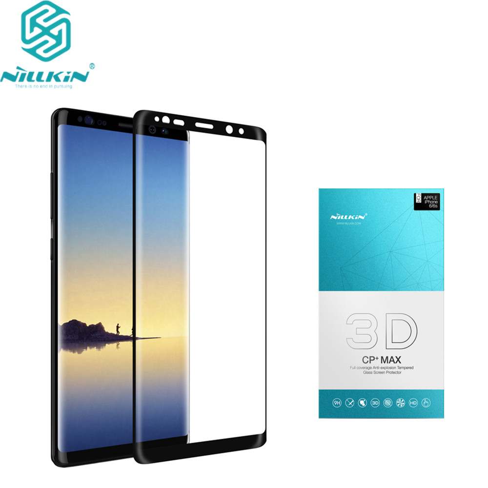 10pcs lot Wholesale Nillkin For Samsung galaxy note 8 Tempered Glass Full Cover 3D CP Max