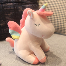 Kawaii Rainbow Unicorn Plush Toy Fat Horse Soft Animals Stuffed Doll Pillow Toys For Baby Girls Kids Christmas Gifts Hot