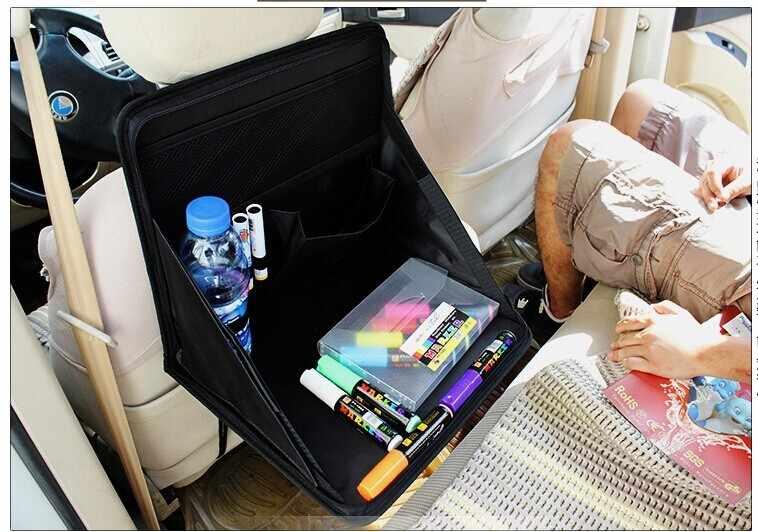 Blk ноутбук сумка подставка лоток стол Портативный складной заднем сиденье автомобиля мешок Рабочий стол служебный автомобиль столовая стол, пригодный для BMW