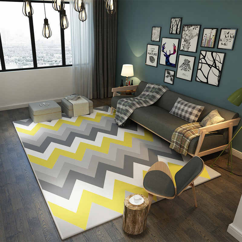 Europe Large Area Carpets Rugs Living Room Carpet Suede Mats Geometric Rectangle For Bedroom Decoration