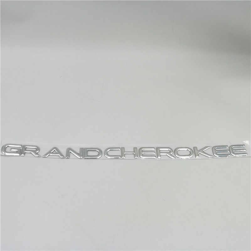 ジープグランドチェロキーサイドドアフェンダー銘板エンブレムのバッジのロゴステッカー
