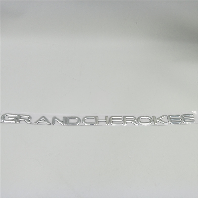 Image 3 - For Jeep GRAND CHEROKEE Sides Door Fender Nameplate Emblem Badge Logo Sticker-in Car Stickers from Automobiles & Motorcycles