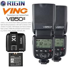 Godox V850II GN60 HSS 1/8000 s 2 TEILE * Speedlite 2,4G Wireless X System + lithium-batterie + X1T-C/X1T-N/X1T-S Kit Für Canon/Nikon/Sony