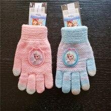 Детские перчатки с героями мультфильмов зимняя утолщенная уличная Милая рукавица подарок на день рождения теплая вязаная шерстяная сумка для малышей Детские перчатки с пальцами