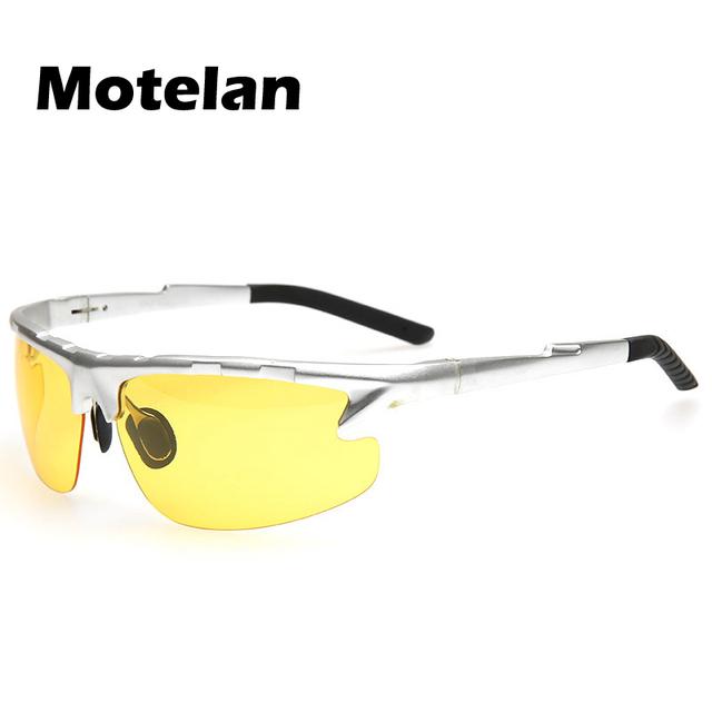 2016 Nueva Visión Nocturna Gafas antideslumbrante espejos de Visión nocturna de Conducción Gafas polarizadas gafas de Sol para hombres gafas deportivas