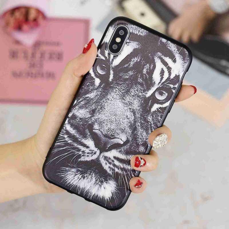 3D Ulga Błyszczący Biały tiger Case Dla Huawei P20 Lite Pro Nova 2 lite 3e 3i Mate 10 Lite Y9 2018 Y5 Y6 Y7 Prime 2018 Play 7 Case