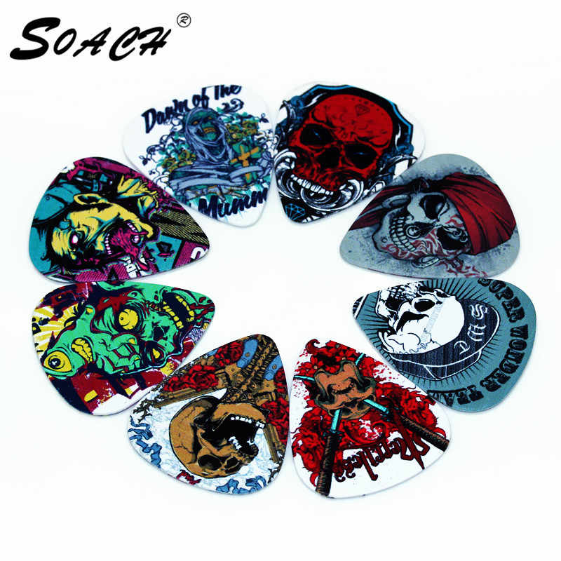 SOACH 10pcs Newest The cartoon skeleton Guitar Picks Thickness 1.0mm guitar pick ukulele for Guitar Accessories