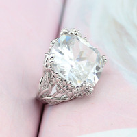 Fashion Luxury Design Zircon Rings AAA Top Quality Zircon With White Crystal For Woman S Luxury