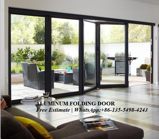 Door Unique,Top quality aluminum sliding folding glass doors with grilled design image