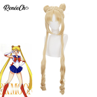 Sailor Moon Wig Anime Cosplay Long Blonde Hair cosplay wigs High Quality Heat Resistant Synthetic Hair Perucas Cosplay Wig
