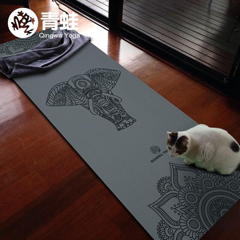 Caoutchouc naturel 1830*680*3mm Slip-résistant yoga Tapis de yoga couverture Remise En Forme de Pliage Tapis de Haute Température suede