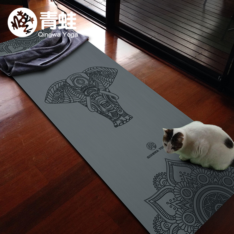 Natural Rubber 1830*680*3MM Slip-resistant Yoga Mats yoga blanket Folding Fitness Mat High Temperature Suede