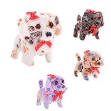 Cute Walking Barking Lighting Toy Dog Funny Electric Moving Dog Children Kids Toys YJS Dropship