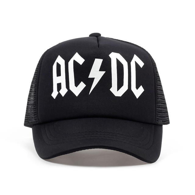 27003185a48 Tunica men women cool trucker mesh caps acdc band rock fans cap ac rock  band jpg