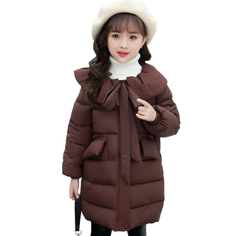 Enfants hiver épais chaud long manteau âge pour 4-14 ans adolescentes coupe-vent et imperméable hauts grandes filles style scolaire tenues