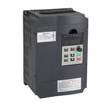 Частотный привод, Vfd инвертор, Частотный преобразователь 2.2Kw 3Hp 220V 12A для управления скоростью двигателя шпинделя(Vfd-2.2Kw