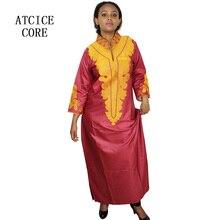 Африканские платья для женщин Дашики платья Базен riche традиционная африканская одежда с длинным рукавом для дам без шарфа LA018