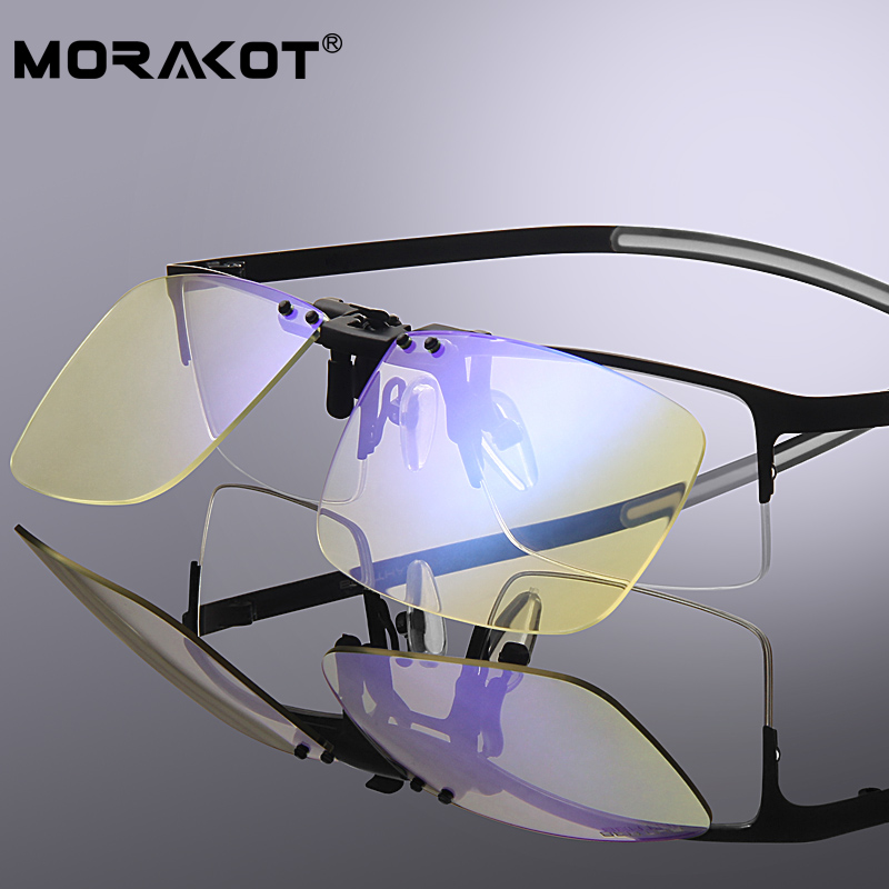 MORAKOT Anti Blue Rays Computer Goggles Glasses Clip Eye Protect Day And Night Radiation-resistant Anti-blue Eyewear JP01282