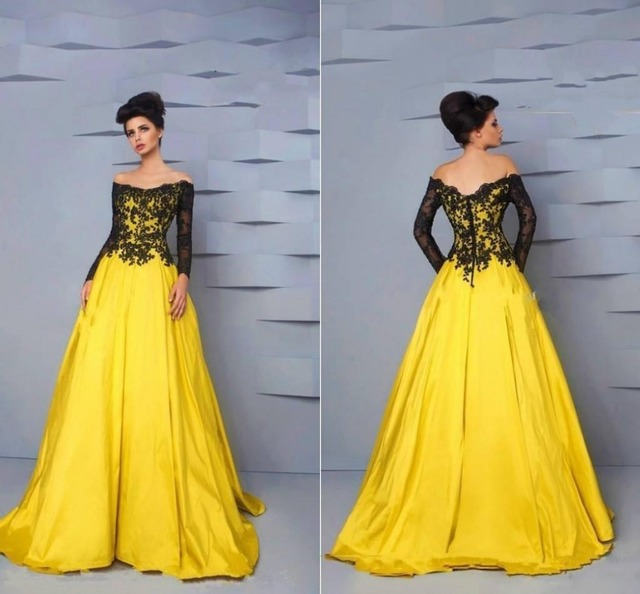 Aliexpress.com : Buy Vestidos De Feata A line Prom Dress Full ...