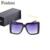 FEISHINI Precios Al Por Mayor Patrón Hueco de Metal Piernas Últimas Populares HD Cuadrado Estrella gafas de Sol de Gran Tamaño de Las Mujeres de La Vendimia 2017