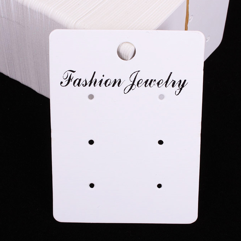 200Pcs/lot White Paper Earring Display Cards Packaging 5x6.7cm Fashion Jewelry Print Jewelry Cardboard For Custom Logo H060