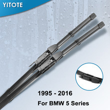 YITOTE Wiper Blades for BMW 5 Series E39 E60 E61 F07 F10 F11 520i 523i 525i 528i 530i 535i 540i 545i 518d 520d 525d 530d 535d(China)